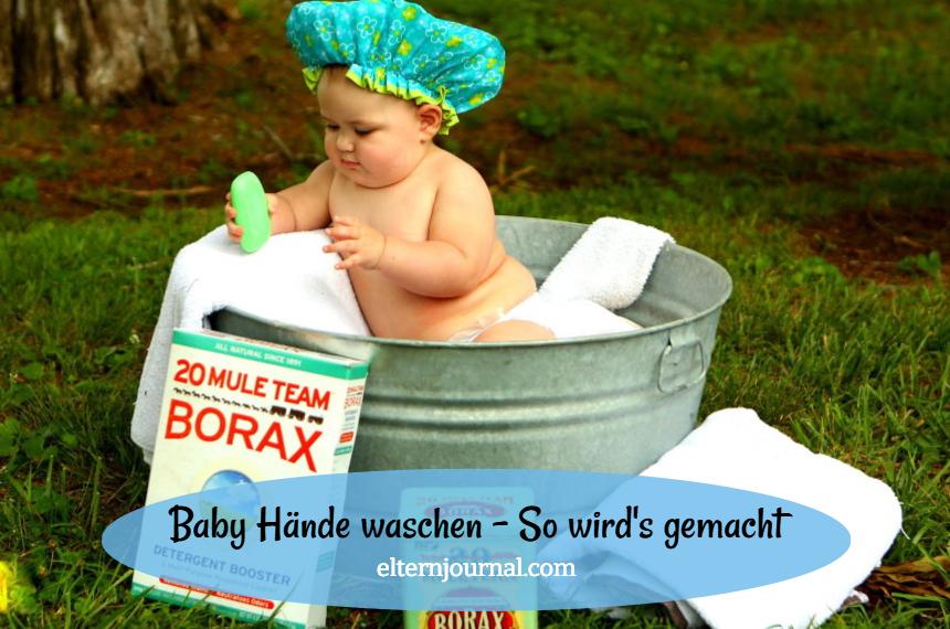 Baby Hände waschen: Tipps für saubere Hände zu Hause und unterwegs